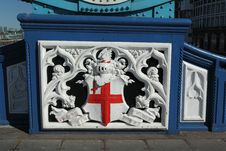 Tower Bridge Shield, London Royalty Free Stock Photo