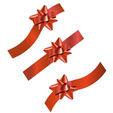 Set Of Three Festive Ribbons Royalty Free Stock Images