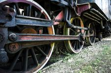 Free Old Steam Locomotive Wheels Royalty Free Stock Image - 30675306