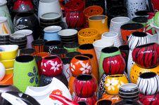 Free Colorful Ceramic Jar And Bowl At Shop Royalty Free Stock Image - 30675976