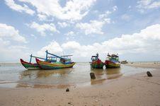 Free Fishing Boats Anchored Near The Seaside Stock Photos - 30676023