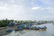Free Fishing Boats Docked At Harbor Stock Image - 30676101