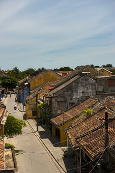 Free The Roofs Of The Ancient Houses With The Red Tiles Royalty Free Stock Photos - 30676708