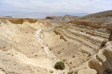 Judea Desert Wadi. Stock Photos