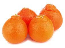 Free Ripe Mineola Fruits Isolated On White Background. Stock Photography - 30678952