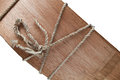Free Wood With Rope Knot Stock Photo - 30680260