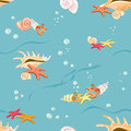 Free Marine Background With Seashells And Starfish Royalty Free Stock Photography - 30682377