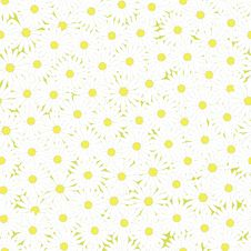 Seamless Camomiles Pattern Stock Photo