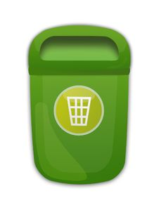 Free Green Trash Can Royalty Free Stock Photography - 30680057