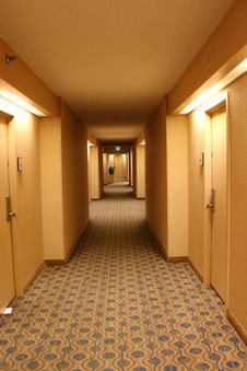 Quiet Hallway In Hotel Stock Photography