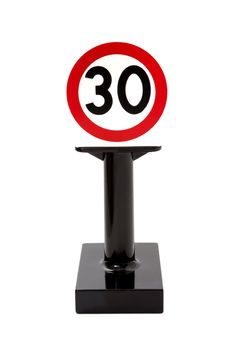 Free Toy Speed Limit Sign Royalty Free Stock Photo - 30682625