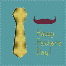 Free Father S Day Greeting сard Royalty Free Stock Image - 30683536
