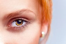 Free Eye Of Young Beautiful Woman Royalty Free Stock Photos - 30683628
