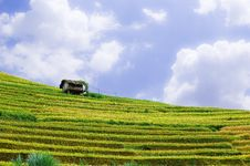 Free Stilt House On Top Of Hill With The Rice Fields Stock Photos - 30686803