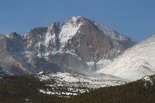 Free Longs Peak After Snowfall Stock Images - 30687534