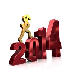 Free More Money In 2014 Royalty Free Stock Photos - 30689048