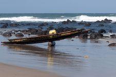 Fishing Dugout Royalty Free Stock Photos
