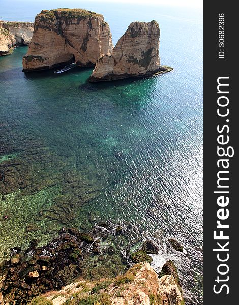 Pigeon Rocks in Beirut