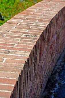 Bricks Street Wall Stock Image