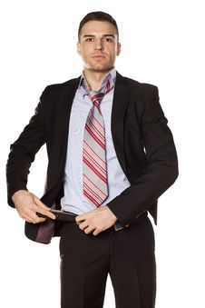 Free Businessman Fastened The Belt Royalty Free Stock Photos - 30698948