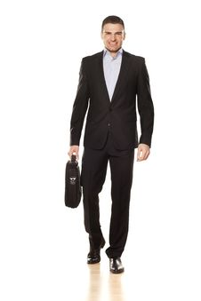 Free Attractive Businessman On White Royalty Free Stock Photo - 30699395