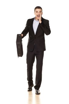 Free Businessman Shouting Royalty Free Stock Images - 30699439