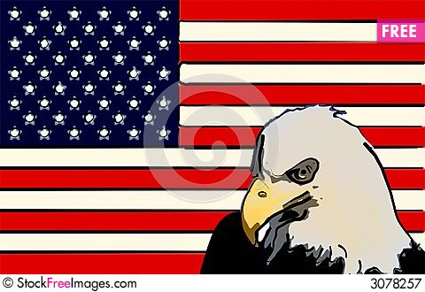 Free Stylized American Flag Eagle Royalty Free Stock Photography - 3078257
