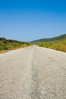 Free Isolated Straight Road Stock Image - 3070531