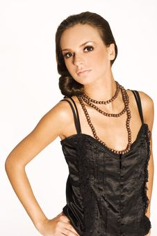 Free Brunette In Black Stock Photos - 3071153