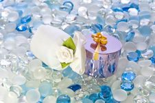 Gifts On Glass Balls Royalty Free Stock Photos