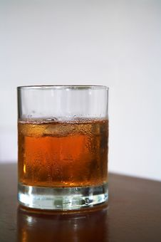 Free Glass Of Whisky With An Ice Stock Photography - 3072822