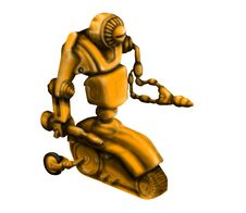 Free Yellow Repair Robot Royalty Free Stock Photography - 3073197