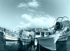Free Fisheye Boats Stock Image - 3073211