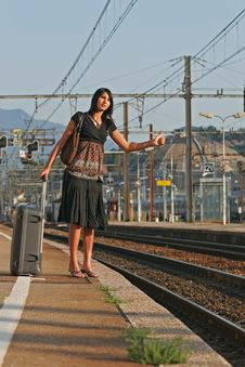 Free Woman Leaving On A Journey Royalty Free Stock Photography - 3073537