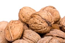 Free Walnuts Close Up Isolated Royalty Free Stock Images - 3073639