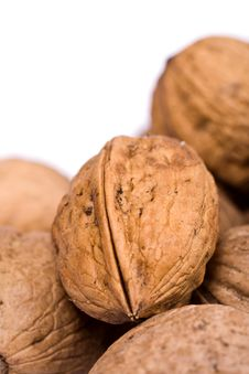 Free Walnuts Close Up Isolated Stock Image - 3073811