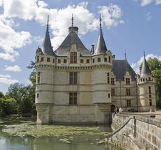 Chateau Azay-le-Rideau, France Stock Photos