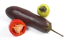 Free Eggplant, Pepper Stock Image - 3075421
