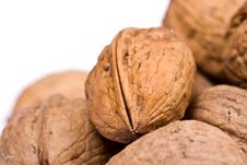 Free Walnuts Close Up Isolated Stock Images - 3075794