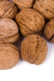 Free Walnuts Close Up Isolated Stock Photography - 3075802