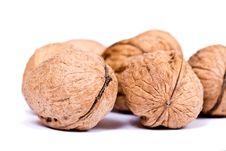 Free Walnuts Close Up Isolated Royalty Free Stock Image - 3075806