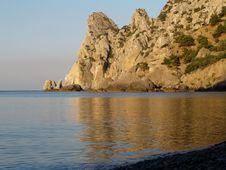 Free Gold Sea And Mountains Stock Photos - 3076253