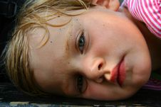 Free Tired Girl On The Bench Royalty Free Stock Images - 3076649