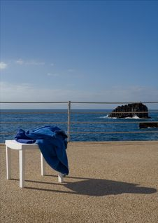 Sun, Sea And Chair Stock Photography