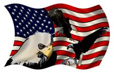 Stylized American Flag Eagles Royalty Free Stock Photo