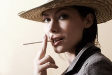 Free Woman With Cigarette Royalty Free Stock Images - 3078619