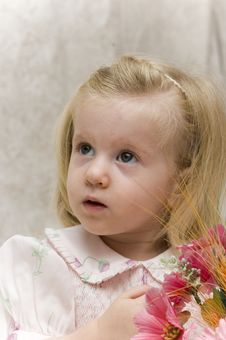 Free Beautiful Girl With Flowers Royalty Free Stock Photography - 3079147