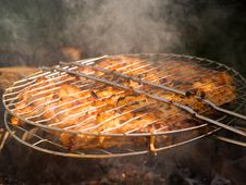 Free Barbecue Close-up And Smoke Royalty Free Stock Photography - 3079337