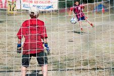 Free Penalty - Kicking Royalty Free Stock Images - 3079879