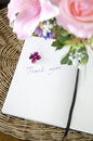 Free Thank You Note With Blossom Stock Image - 30702571